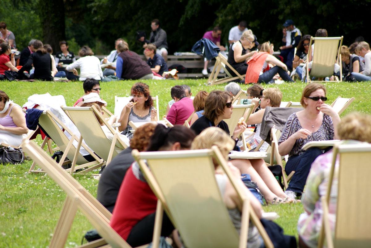 Les jardins peuvent être utilisés pour les pauses des séminaires.